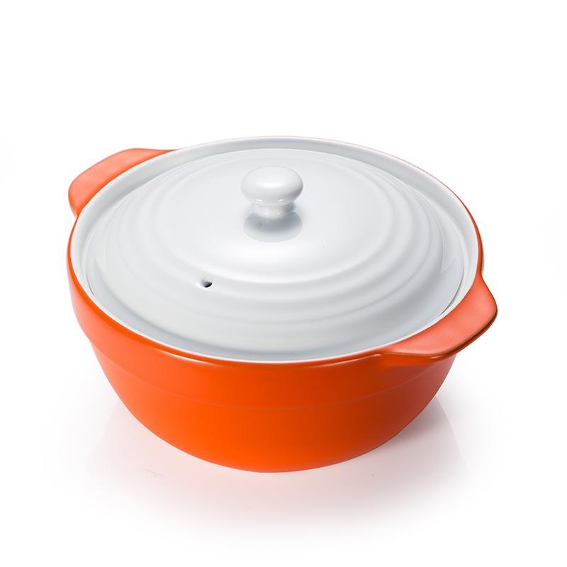 陶瓷养生煲汤锅(1.7l-橙)