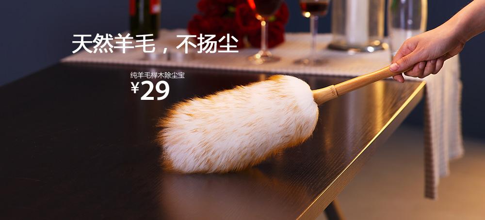 纯羊毛榉木除尘宝